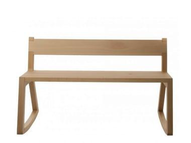 Rocking beech bench with back TINA