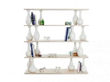 Open double-sided bookcase VASE SHELVES