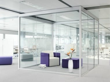 Acoustic sliding office partition THINK.TANK