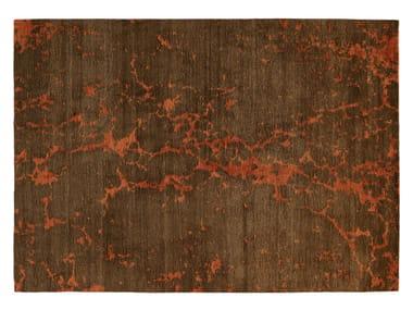 Rectangular fabric rug FUSION