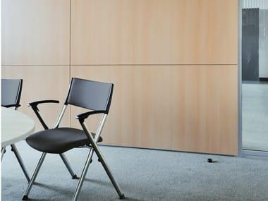 Acoustic wooden office partition HRX