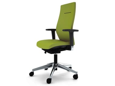 Task chair with 5-Spoke base with armrests JET II | Task chair with armrests