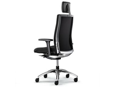Executive chair with 5-spoke base with headrest OKAY II | Executive chair