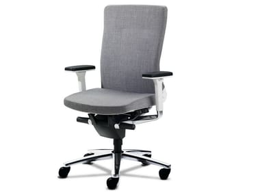 Task chair with 5-Spoke base with armrests LAMIGA | Task chair with armrests