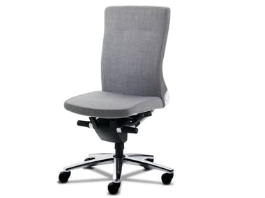 Task chair with 5-Spoke base with castors LAMIGA | Task chair