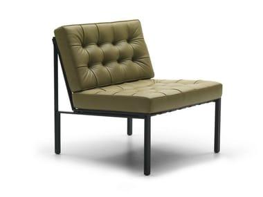 Cadeira lounge estofada de pele KT-221   Cadeira lounge