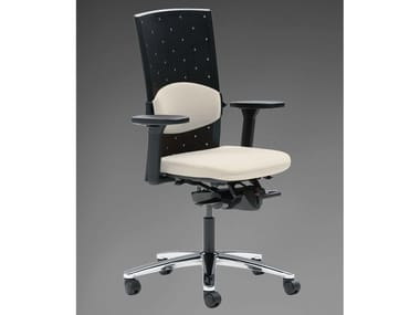 Task chair with 5-Spoke base with armrests TENSA | Task chair with 5-Spoke base