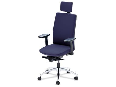 Executive chair with 5-spoke base with armrests TENSA | Executive chair