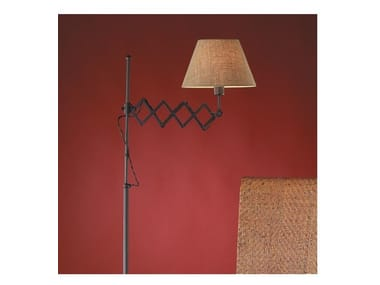 Fabric floor lamp with swing arm LONDON P