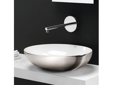 Lavabo da appoggio in ceramica design THIN OVALE