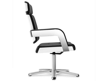 Task chair with 5-Spoke base with armrests CHARTA | Task chair with armrests