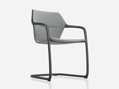 Cantilever ergonomic fabric chair RAY   Cantilever chair
