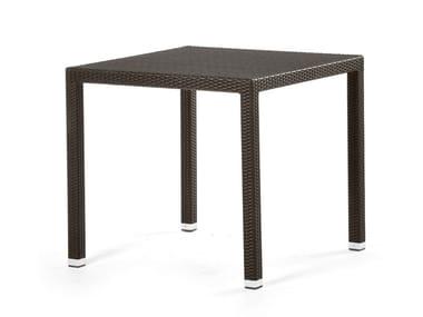 Tavolo quadrato con rivestimento in fibra sintetica LOTUS | Tavolo quadrato