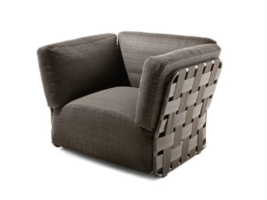 Fabric garden armchair with armrests OBI | Garden armchair