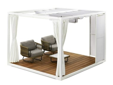 Aluminium and wood gazebo PAVILION
