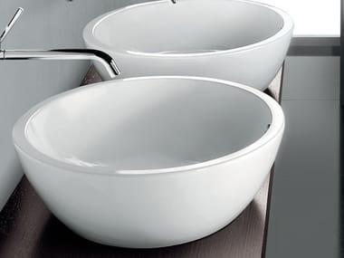 Lavabo da appoggio in ceramica design OVAL BASIN
