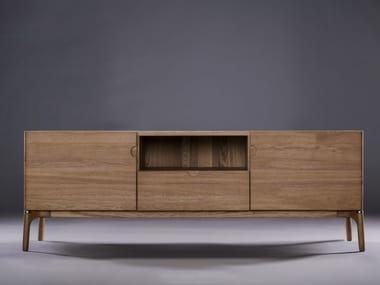 Madia in legno con ante a battente con cassetti NARU | Madia