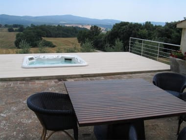 In-Ground Infinity swimming pool Cement swimming pool