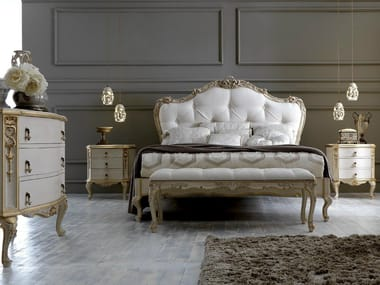 Bed double bed with tufted headboard 2406 | Bed double bed
