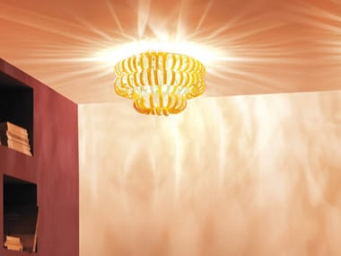 Glass ceiling lamp ECOS PL 60A