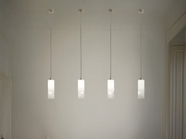 Glass pendant lamp LIO SP 1 P