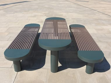 Stainless steel and PET Table for public areas COMFONY 90 | Table for public areas