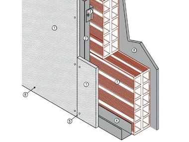 Fire stop panel for external cladding MGO FIRE PLUS® C27/40 - EI120