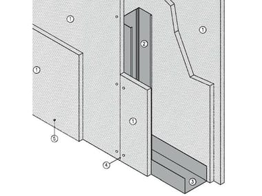 Fireproof panel for interior partition MGO FIRE PLUS® W75/127 - EI180