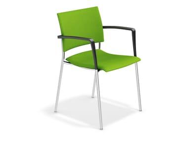 Stuhl aus Stoff mit Armlehnen FENIKS | Stuhl mit Armlehnen