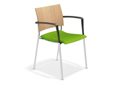 Konferenzstuhl mit Armlehnen FENIKS | Stuhl mit Armlehnen