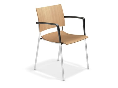 Wooden chair with armrests FENIKS | Chair with armrests