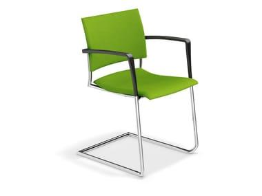 Freischwinger aus Stoff FENIKS II | Stuhl aus Stoff