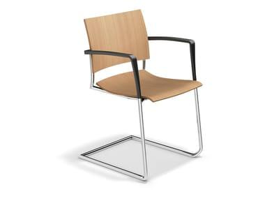 Freischwinger aus Holz FENIKS II | Stuhl aus Holz