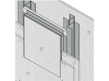 Fireproof inspection chamber for partition walls AKIFIRE WALL 180 - EI180