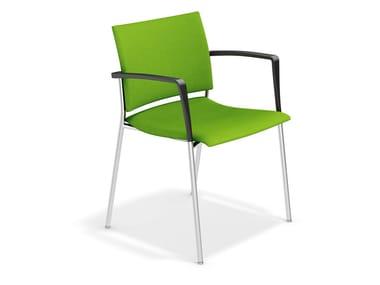 Stuhl aus Stoff mit Armlehnen FENIKS XL | Stuhl aus Stoff