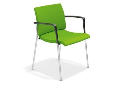 Gepolsterter Stuhl mit Armlehnen FENIKS XL DELUXE | Stuhl mit Armlehnen