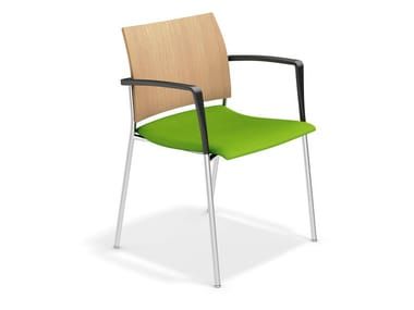 Konferenzstuhl mit Armlehnen FENIKS XL | Stuhl mit Armlehnen
