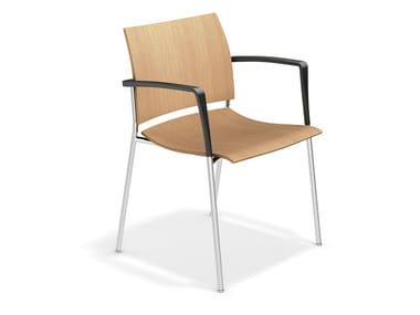 Wooden chair with armrests FENIKS XL | Wooden chair