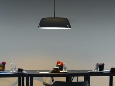 Direct-indirect light acrylic pendant lamp BORDERLINE SUSPENSION 616S