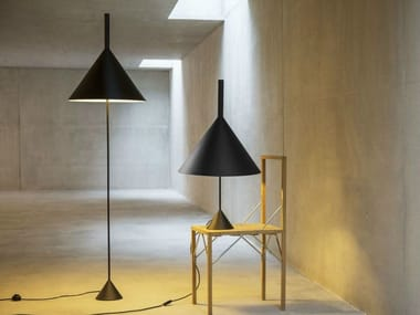 Direct light adjustable metal floor lamp FUNNEL | Floor lamp