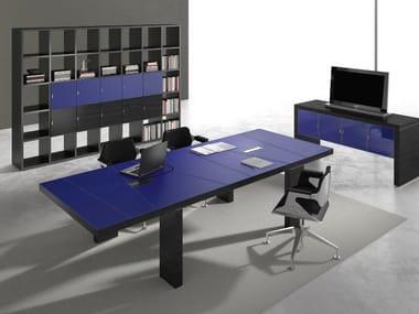 Rectangular wooden meeting table TITANO | Meeting table