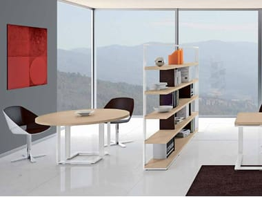 Round wooden meeting table ARCHIMEDE | Round meeting table