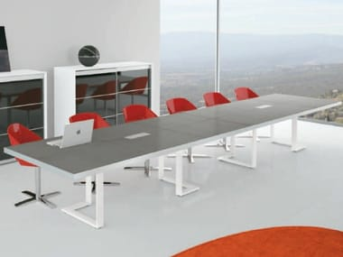 Rectangular wooden meeting table ARCHIMEDE   Rectangular meeting table