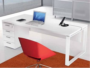 Rectangular wooden office desk with drawers ARCHIMEDE   Office desk with drawers