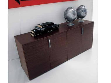 Low office storage unit with hinged doors ERACLE | Office storage unit with hinged doors
