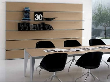 Wooden office shelving ERACLE | Office shelving