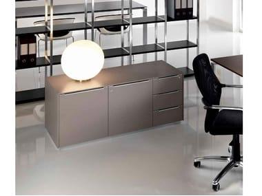 Low wooden office storage unit MEDLEY | Office storage unit