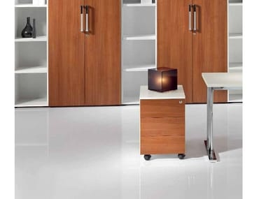Wooden office drawer unit with castors MEDLEY | Office drawer unit
