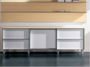 Wooden office storage unit ZEFIRO EXE | Office storage unit