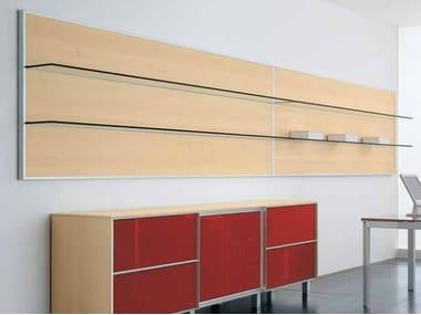 Wooden office shelving ZEFIRO EXE | Office shelving